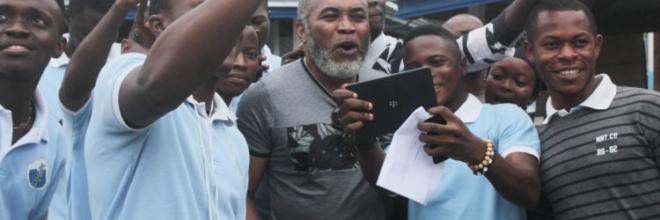 Nigerian Movie star Zack Orji visits CUIB